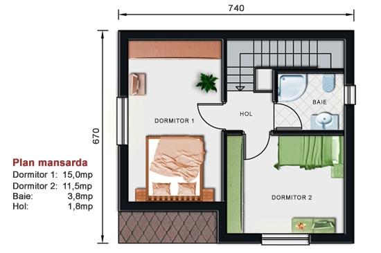 mansarda casa de vacanta