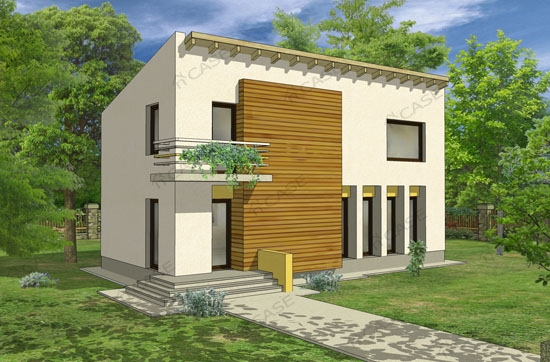 Proiecte moderne proiect casa 2 008 for Casa cub moderne
