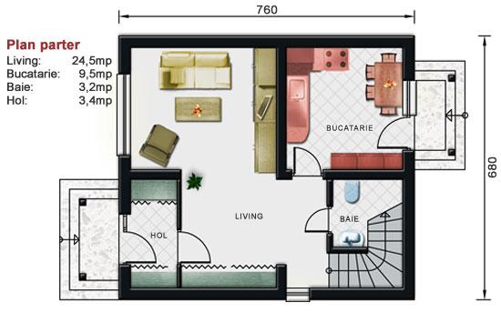 Proiect De Casa Mica Cu Mansarda 2 014 Ncase Ro