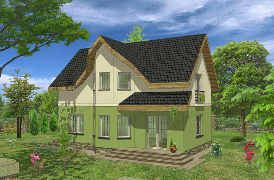 Casa cu mansarda #2-002