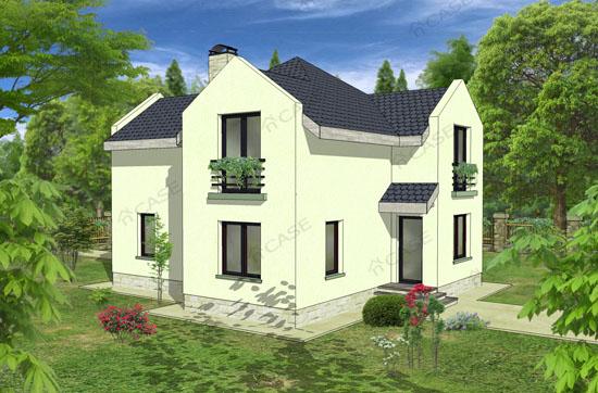 Model casa mansarda #2-003