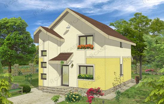 Model casa mansarda #2-013