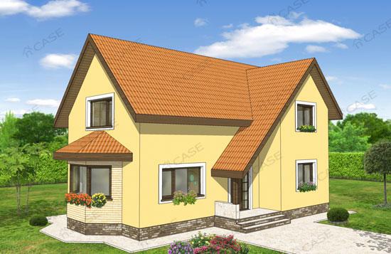 Model casa mansarda #2-018