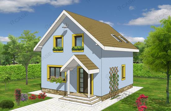 Casa mica cu mansarda #2-014