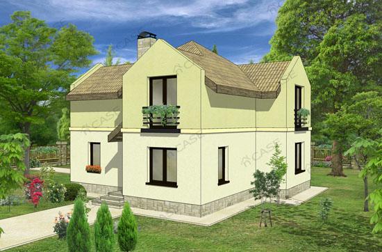 Model casa mansardata #2-006