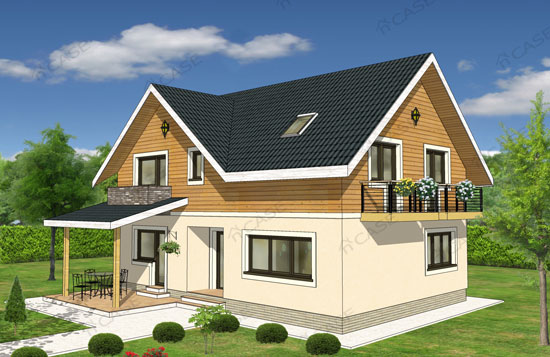 Casa cu mansarda #3-013