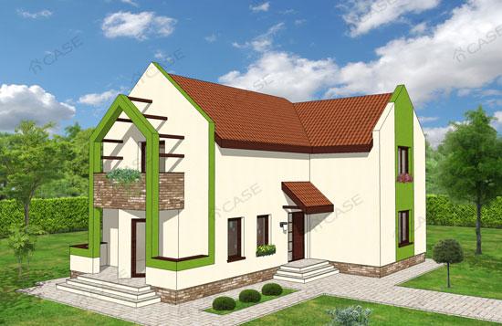 Casa moderna mansardata #3-017